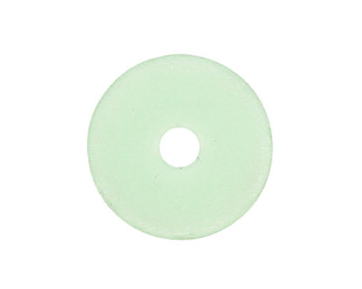 Opaque Seafoam Green Recycled Glass Donut 25mm