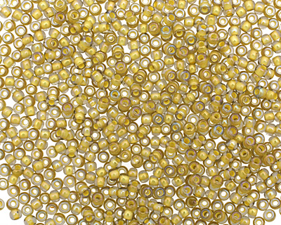 TOHO Luster Black Diamond (with Opaque Yellow Lining) Round 11/0 Seed Bead