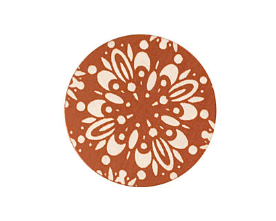 Lillypilly Bronze Kaleidoscope Anodized Aluminum Disc 25mm, 24 gauge