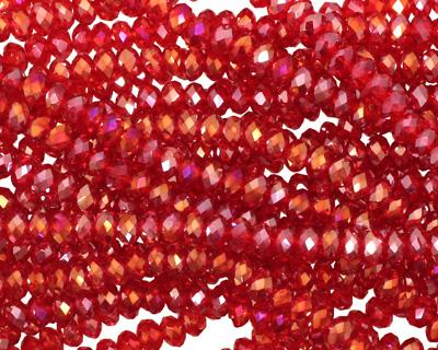 Scarlet AB Crystal Faceted Rondelle 3mm