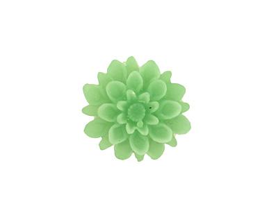 Transparent Jade Lucite Dahlia Flower Cabochon 16mm