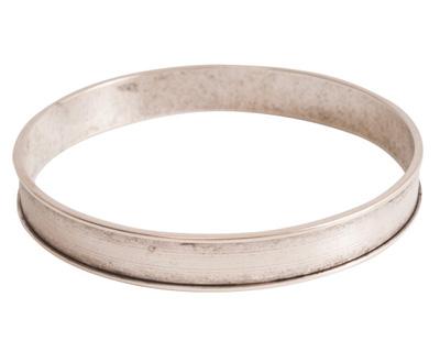 Nunn Design Antique Silver (plated) Channel Bangle Bracelet 70mm