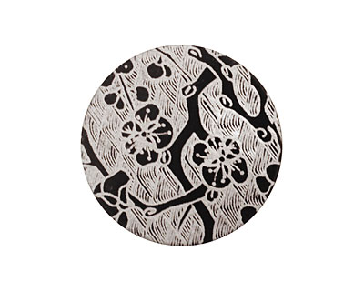 Lillypilly Black Cherry Blossom Anodized Aluminum Disc 25mm, 22 gauge