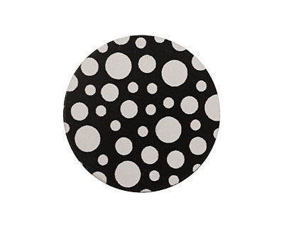 Lillypilly Black Scattered Dots Anodized Aluminum Disc 25mm, 22 gauge