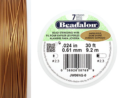 Beadalon Satin Gold .024
