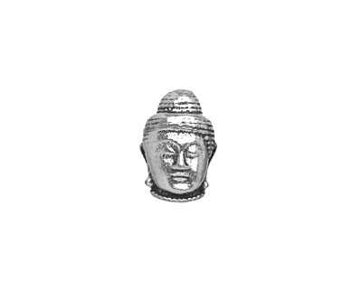 Antique Silver (plated) Buddha Head 10mm Cord Slide 10x14mm