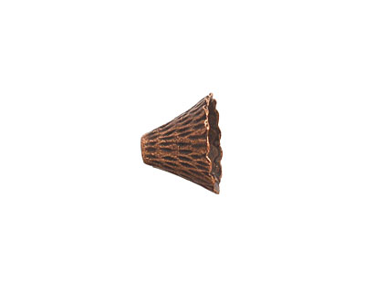 Antique Copper (plated) Textured Cone 9x12mm