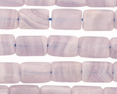 Blue Lace Agate Thin Pillow 12x8mm