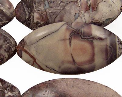 Porcelain Jasper Horse Eye 40x20mm