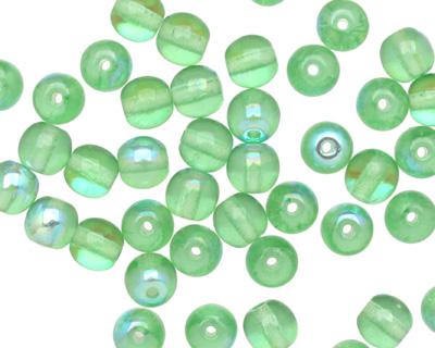 Czech Glass Peridot AB Round 6mm