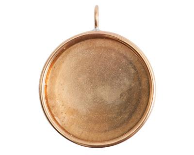 Nunn Design Brass Grande Deep Circle Bezel Pendant 38x46mm