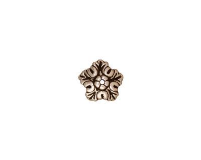 TierraCast Antique Silver (plated) Oak Leaf Bead Cap 4x10mm