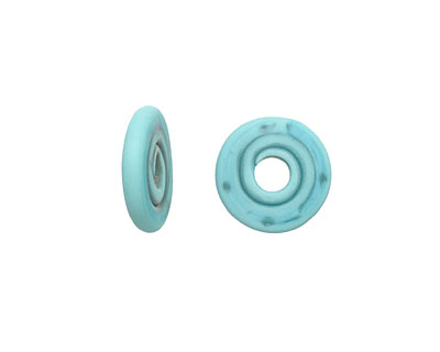 A Beaded Gift Turquoise Glass Mini Disc 12-14mm