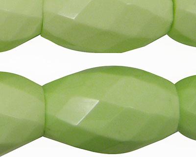 Lemon Chrysoprase Faceted Rice 30x20mm