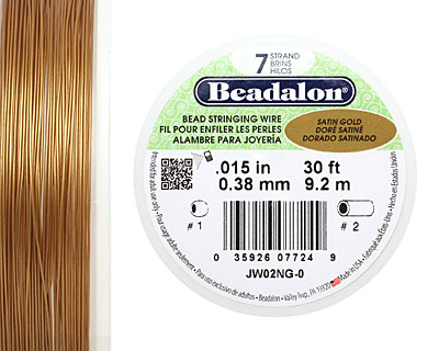 Beadalon Satin Gold .015