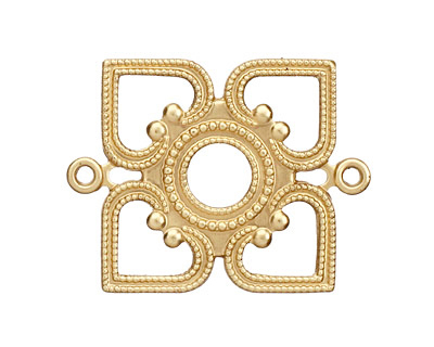 Brass Openwork Diamond Link 33x26mm