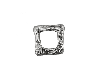 Rustic Charms Sterling Silver Square Link 14mm