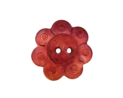 Patricia Healey Copper Flower 2 Hole Button 17mm