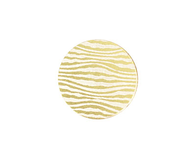 Lillypilly Gold Zebra Anodized Aluminum Disc 19mm, 22 gauge