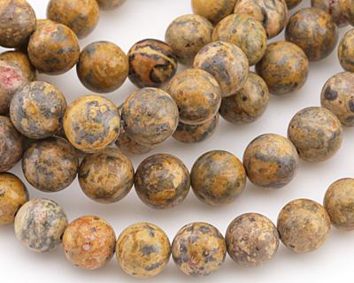 Leopardskin Jasper (Yellow) Round 10mm