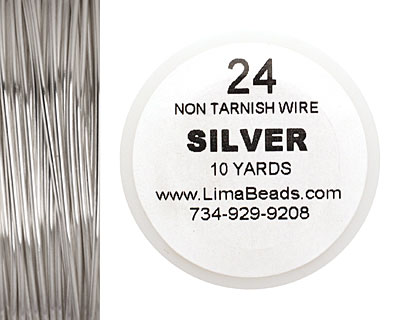 Parawire Non-Tarnish Silver 24 gauge, 10 yards