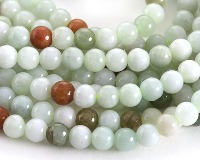 Burma Jade (light-multi) Round 6mm