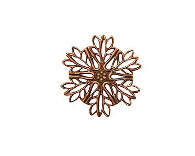 Stampt Antique Copper (plated) Snowflake Filigree 19mm