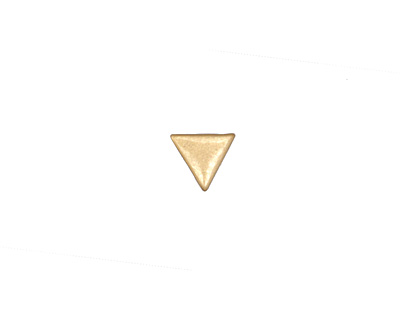 Zola Elements Matte Gold (plated) Triangle 3mm Flat Cord Slide 8mm