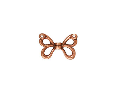 TierraCast Antique Copper (plated) Butterfly Wings 15x11mm