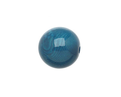 Tagua Nut Turquoise Round 16mm