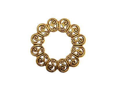 Stampt Antique Gold (plated) S-Wreath Filigree 21mm