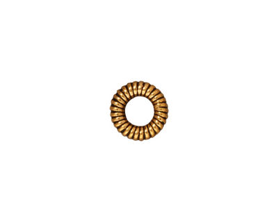 TierraCast Antique Gold (plated) Large Coiled Ring 2x10mm