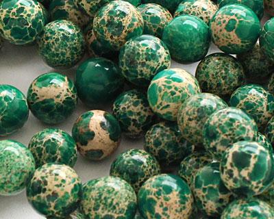 Emerald Impression Jasper Round 12mm