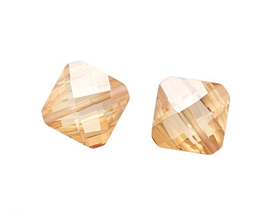 Champagne Faceted Diamond 15mm