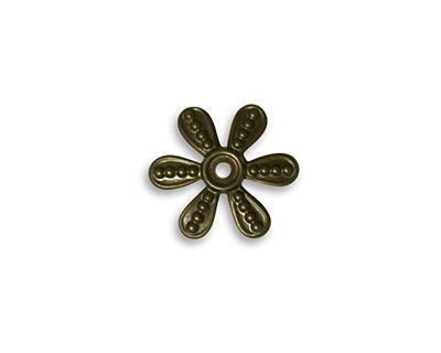 Vintaj Natural Brass Beaded Flower Washer 14mm