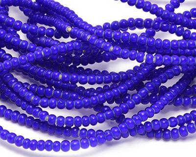 African Trade Beads Cobalt Blue White Heart Glass 3-4mm