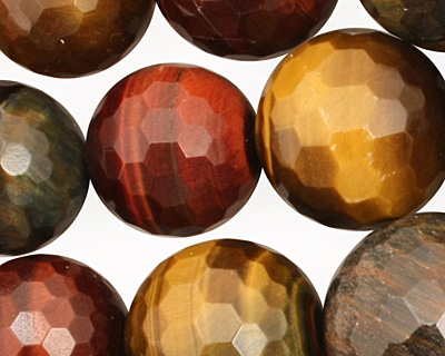Tiger Eye (multi) Faceted Round Graduated 10-20mm