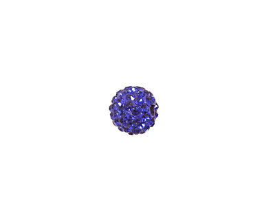 Cobalt Pave Round 8mm (1.5mm hole)