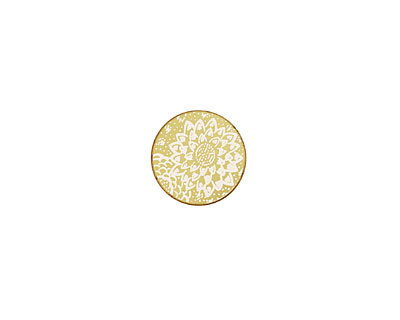 Lillypilly Gold Dahlia Anodized Aluminum Disc 11mm, 22 gauge