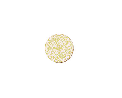 Lillypilly Gold Geometrics Anodized Aluminum Disc 11mm, 22 gauge