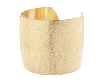 Brass Scaled Cuff 65x51mm
