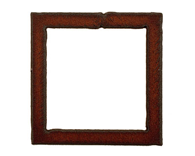 The Lipstick Ranch Rusted Iron Large Square Pendant 48mm