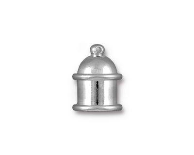 TierraCast Rhodium (plated) Pagoda 8mm Cord End 15.5x12mm