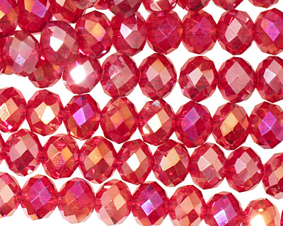 Garnet AB Crystal Faceted Rondelle 8mm
