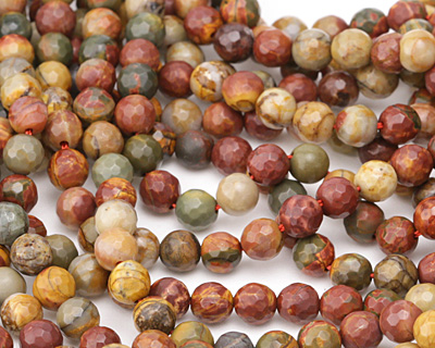 Red Creek Jasper Faceted Round 6mm