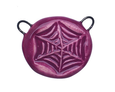 Gaea Ceramic Juju Grape Web 2-Loop Pendant 25-30x24-25mm
