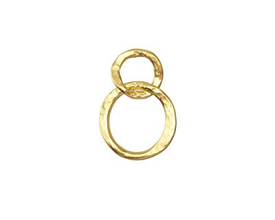 Vintaj 10K Gold (plated) Linked Hammered Rings 17x24mm