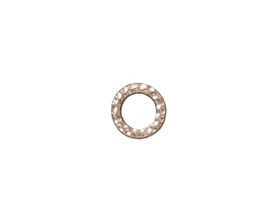 TierraCast Rhodium (plated) Small Hammertone Ring 9mm
