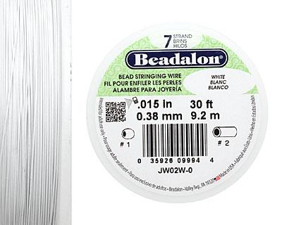 Beadalon White .015