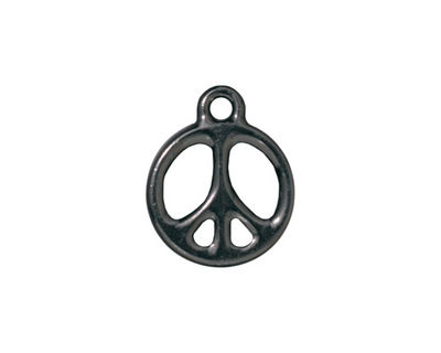 TierraCast Gunmetal Peace Charm 15x19mm